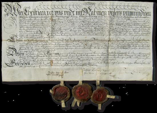 1748 Urkunde
